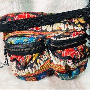 L.A.M.B unique print zipper bag